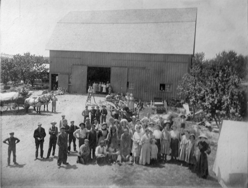 Barn and Several Farm Families