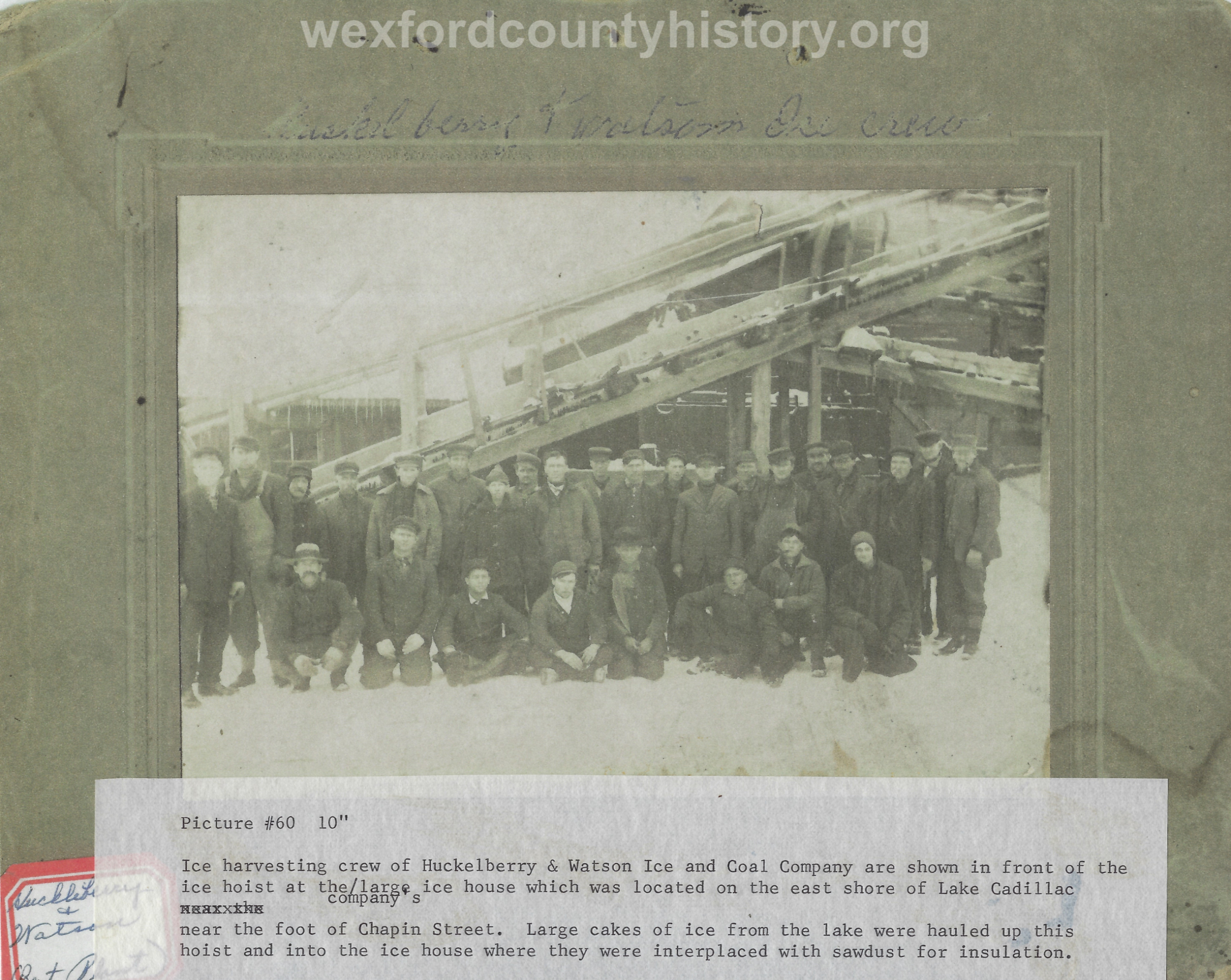 Huckleberry And Watson Ice And Coal Company Workers