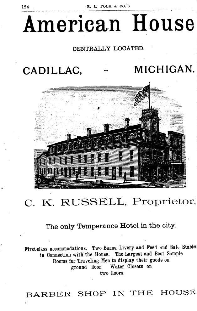 Cadillac Directory Ads, 1884