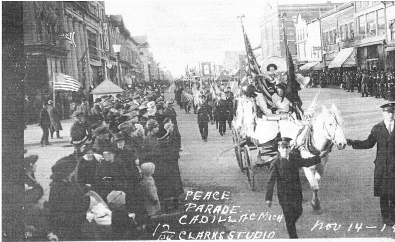 Holmquist Coll. Peace Parade in Cadillac