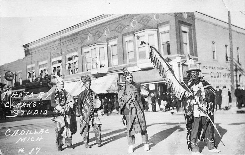 Native Americans in a Street Parade