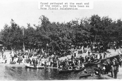 Crowd at West End of Canal