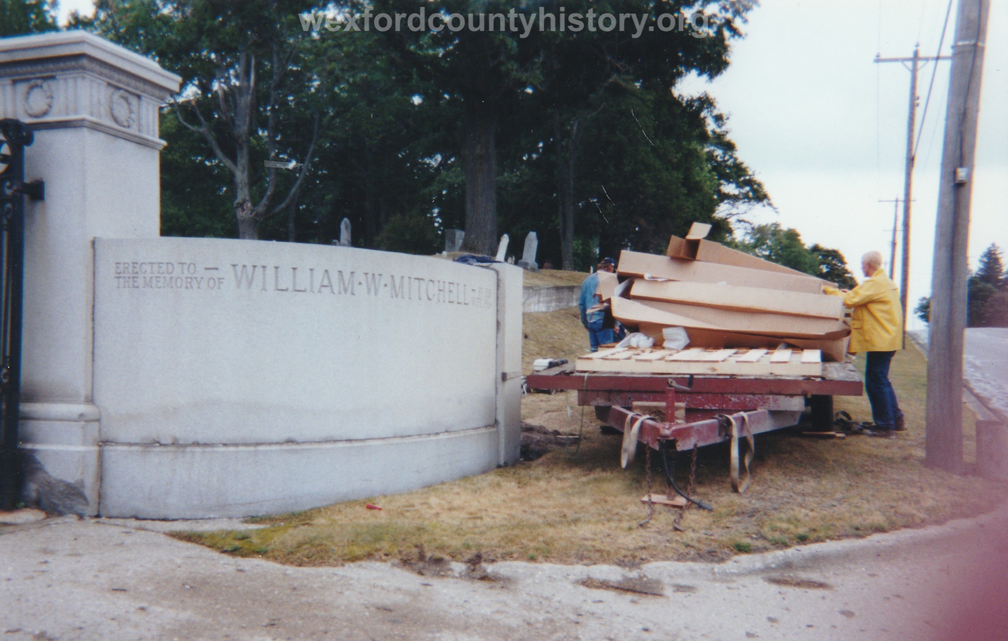 Construction Of The Fence For Maple Hill Cemetery