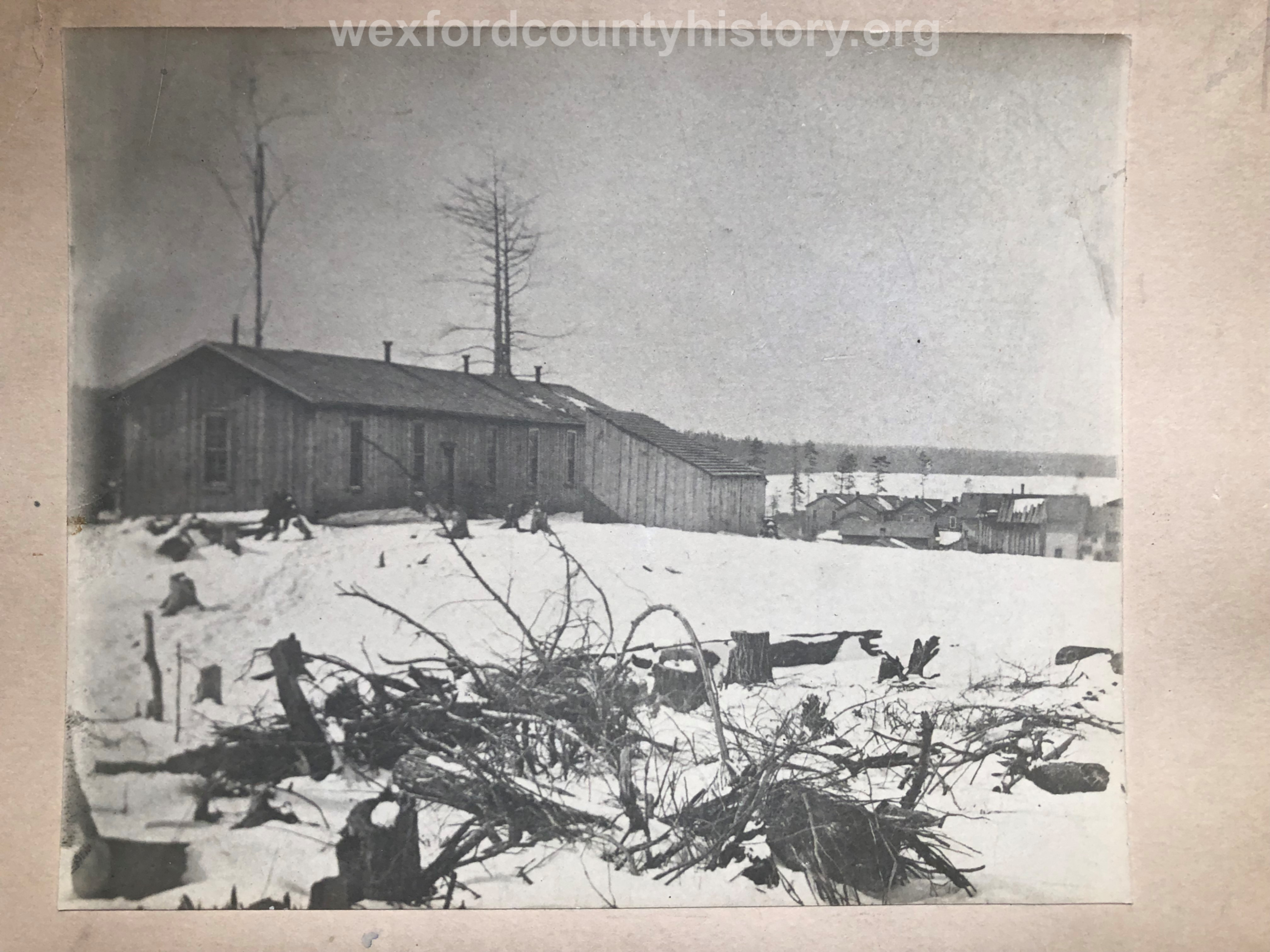 Cadillac's First School Building (all grades), taken in the Spring of 1872.