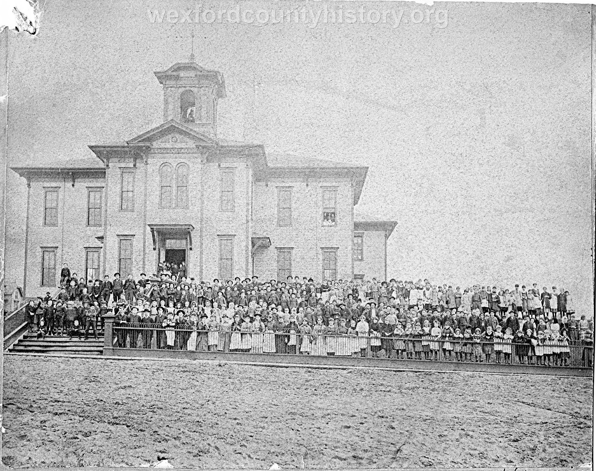 The Rebuilt Wooden High School (Lasted Until 1889)