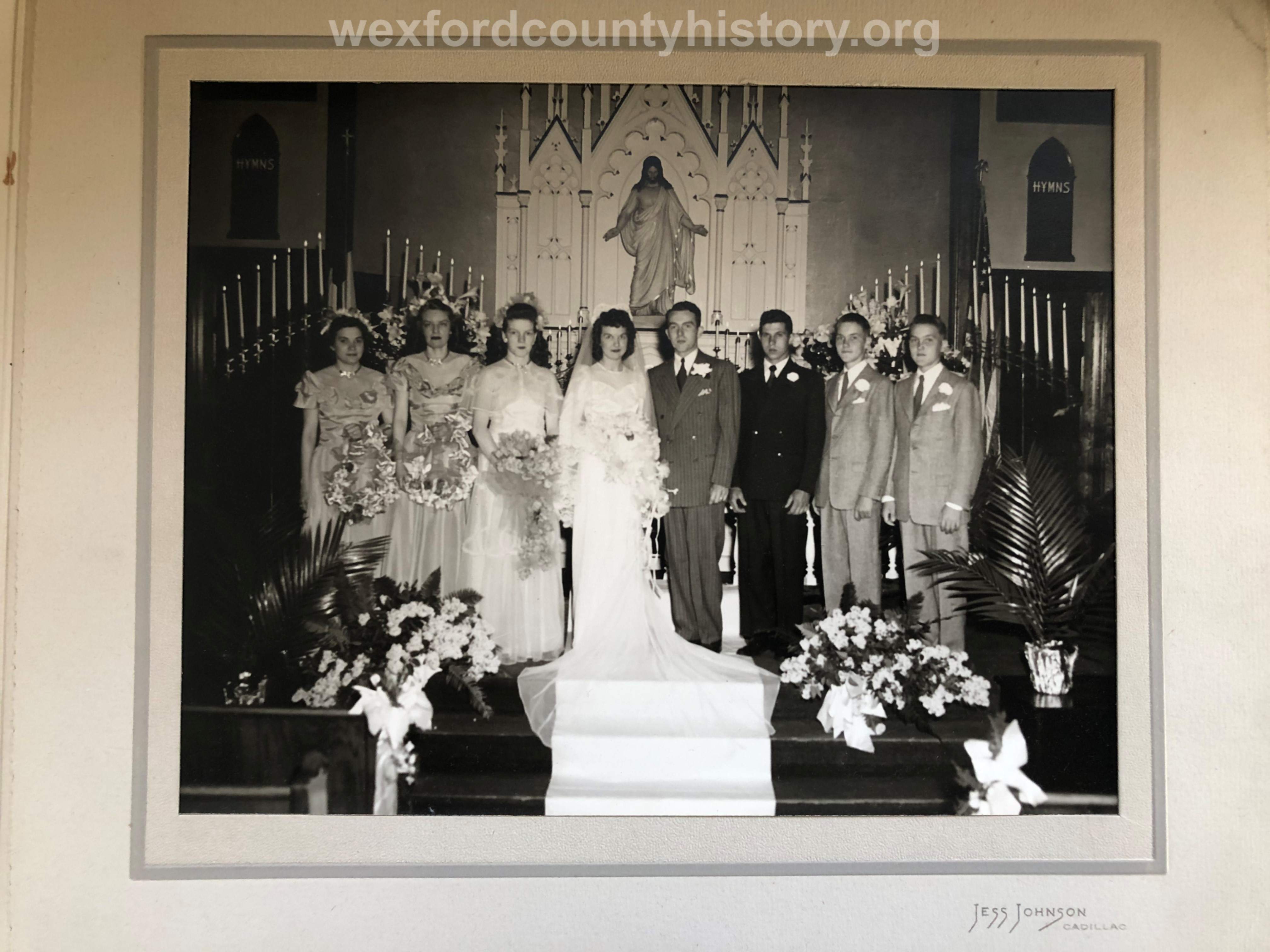 Zion Lutheran Church Wedding, 1940