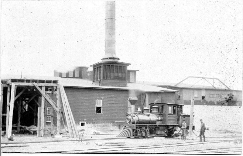 Shay Locomotive at a Mill