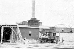 Shay Locomotive at a Mill