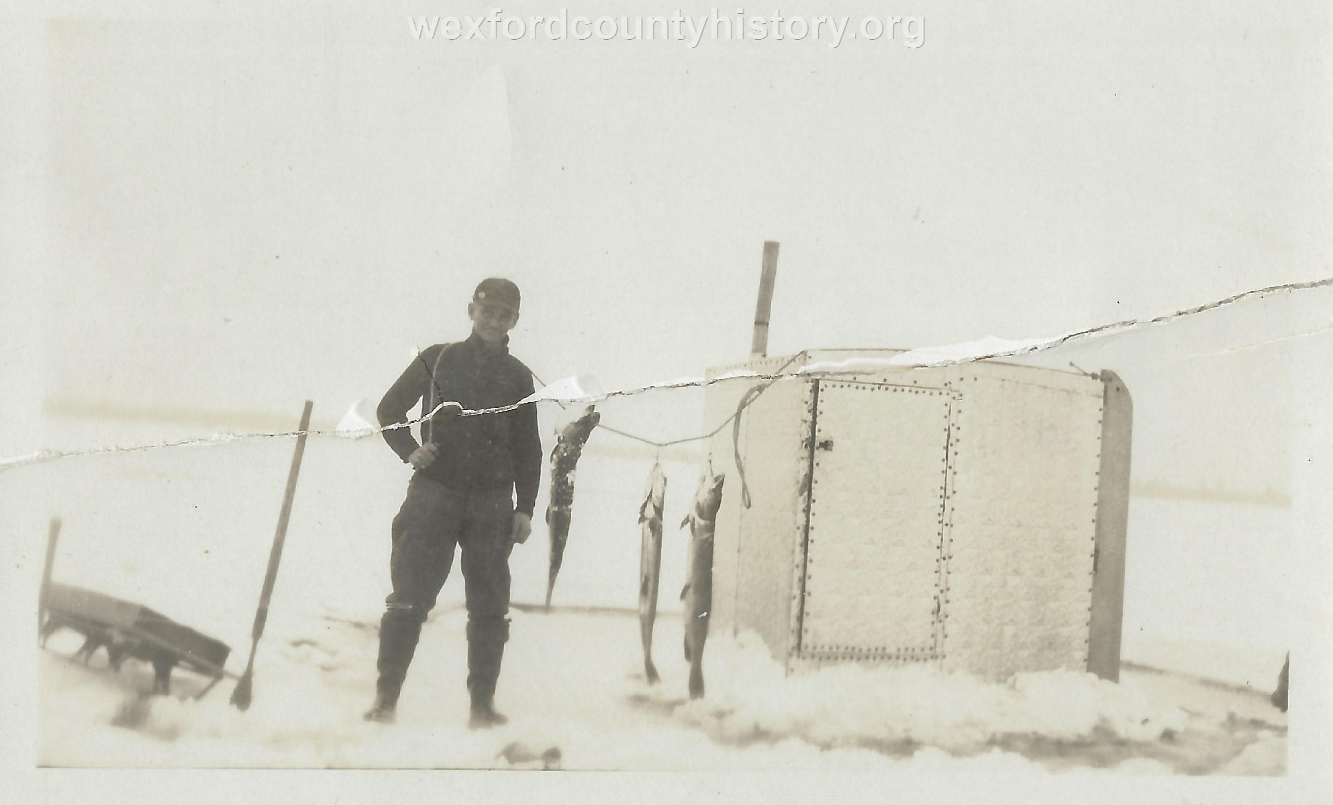 Cadillac-Hunting-And-Fishing-Ice-Shanty-on-Lake-Cadillac-1925