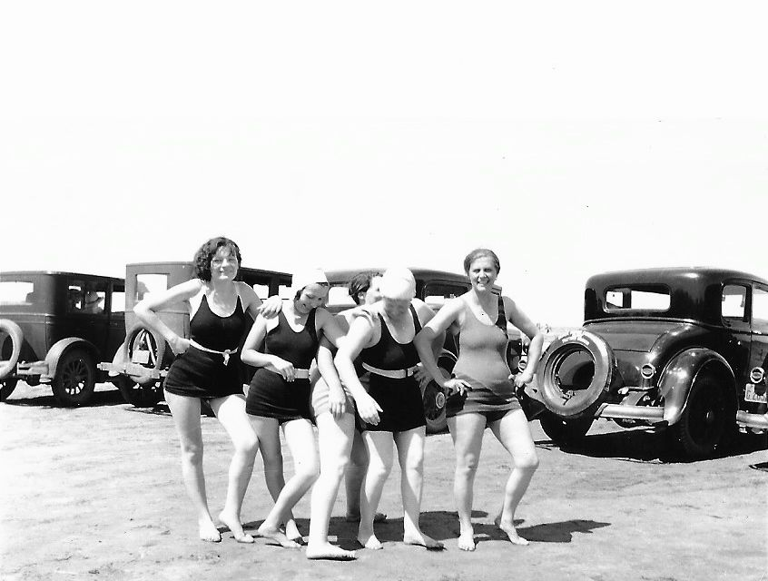 Bathers and Cars