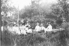 Eight Young People in a Boat