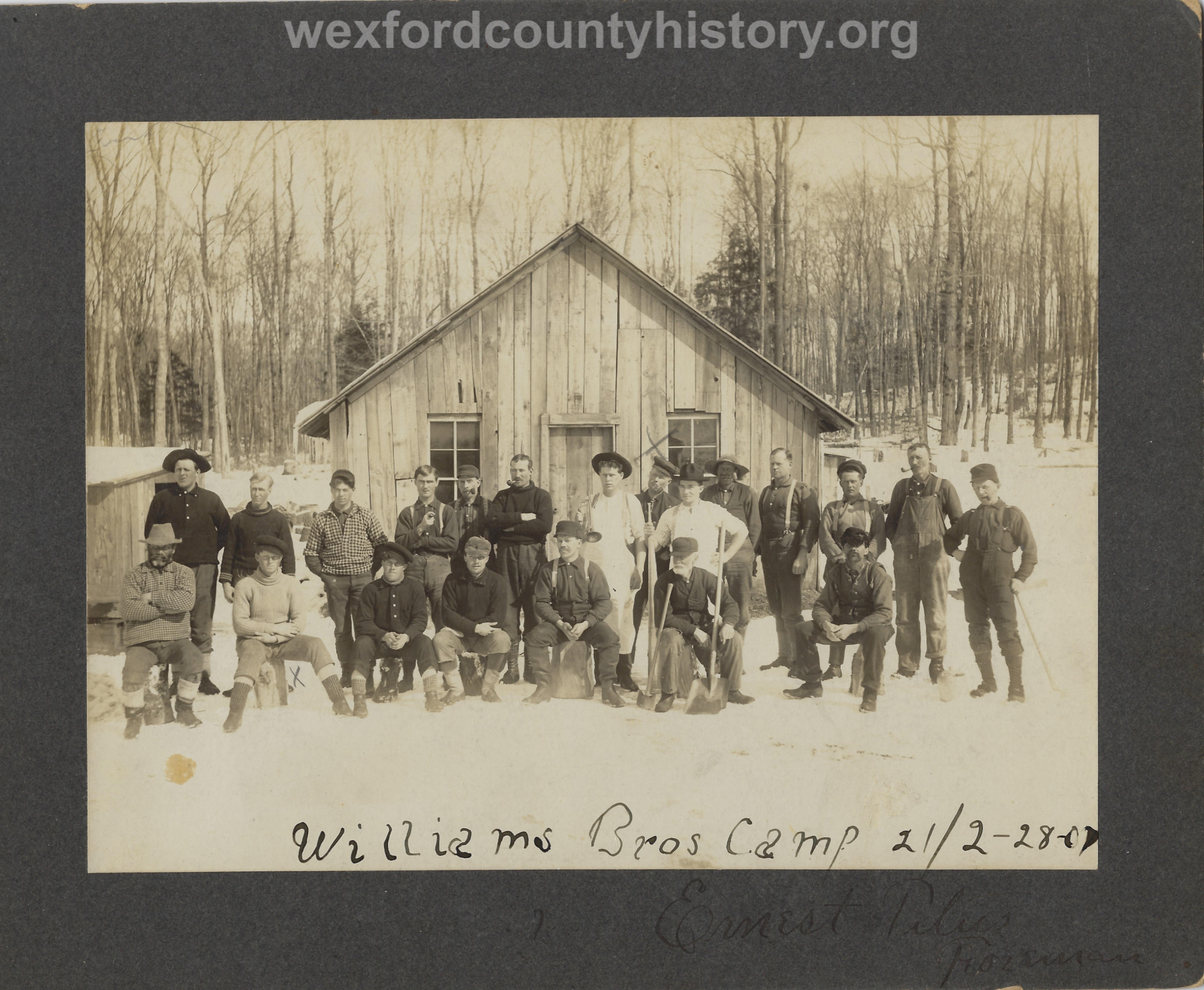 Cadillac-Lumber-Williams-Brothers-Company-Camp-Near-Harrietta-Camp-21-Feb-28-1907