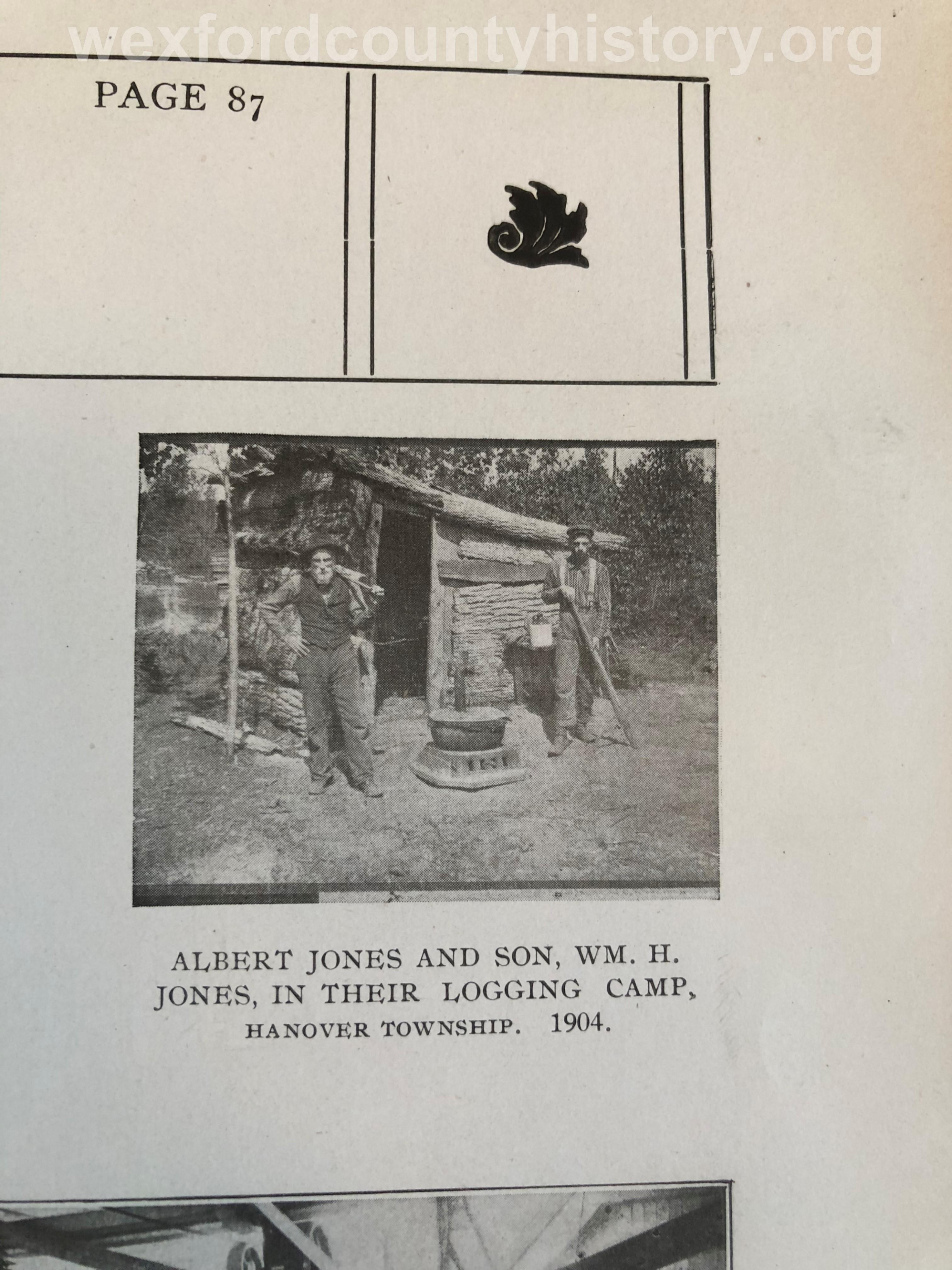 Wexford-County-Lumber-Albert-Jones-And-William-H-Jones-In-Their-Logging-Camp-1904