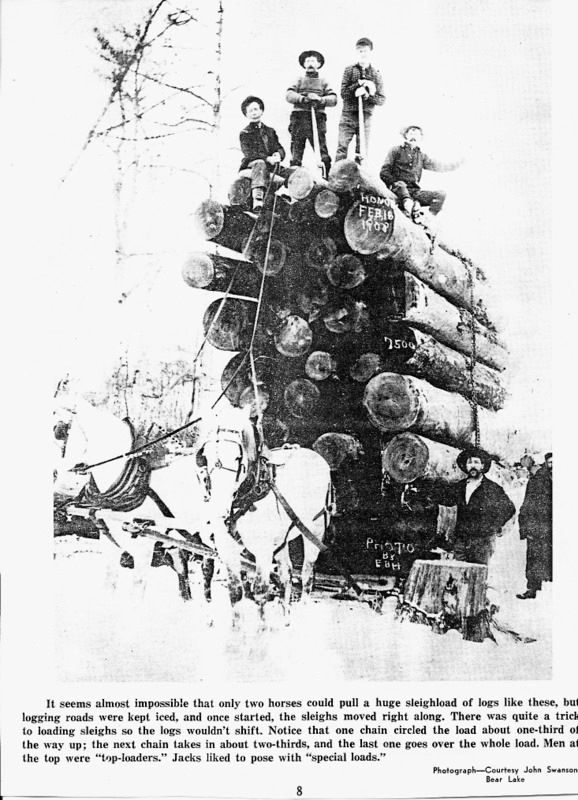 Large Load Pulled by Horses