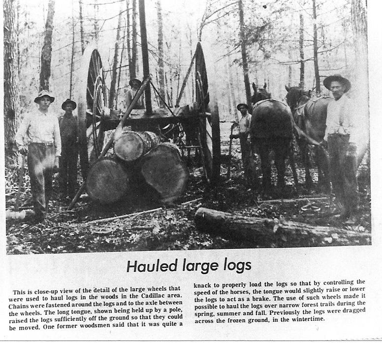 Hauling Logs By Big Wheels