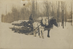 Cadillac-Lumber-Horse-Team-Pulling-Load-Of-Logs-On-Sled-7