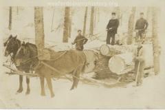 Cadillac-Lumber-Horse-Team-Pulling-Lumber