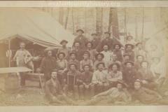 Cadillac-Lumber-Lumberjacks-Pose-In-Camp-1