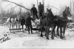 Removing Logs at A Sours Camp