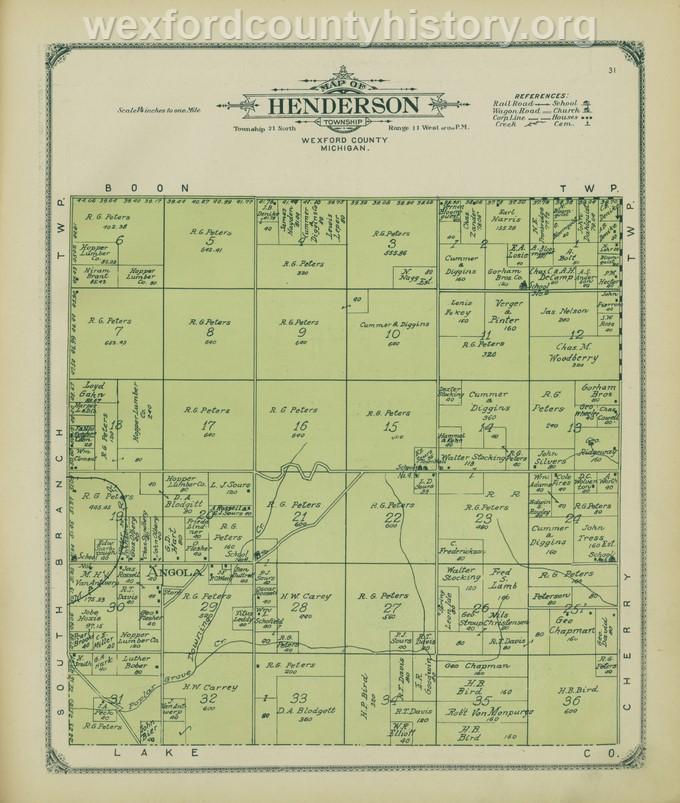 1908 - Henderson Township