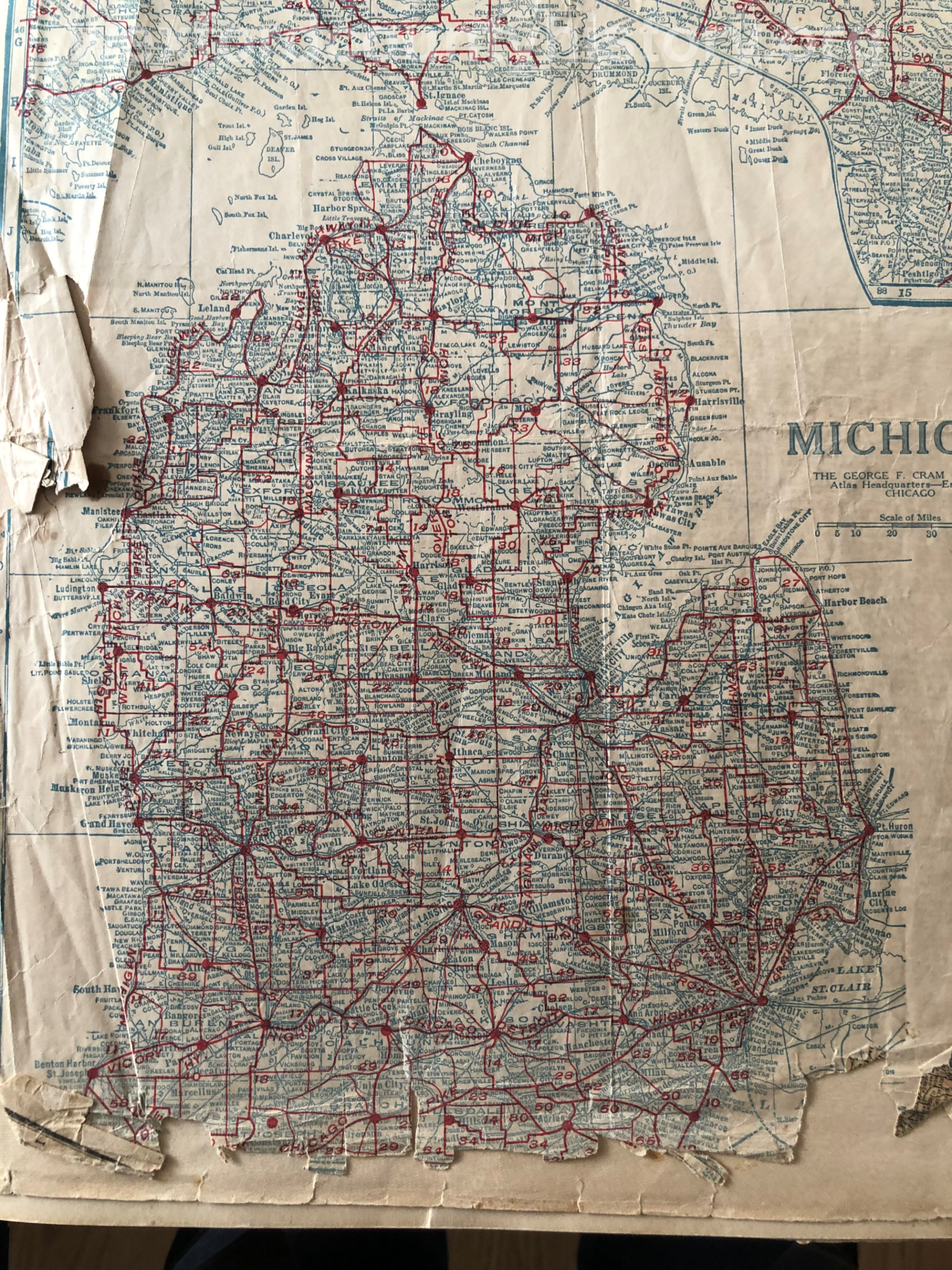 Unknown Road Map Of Cadillac