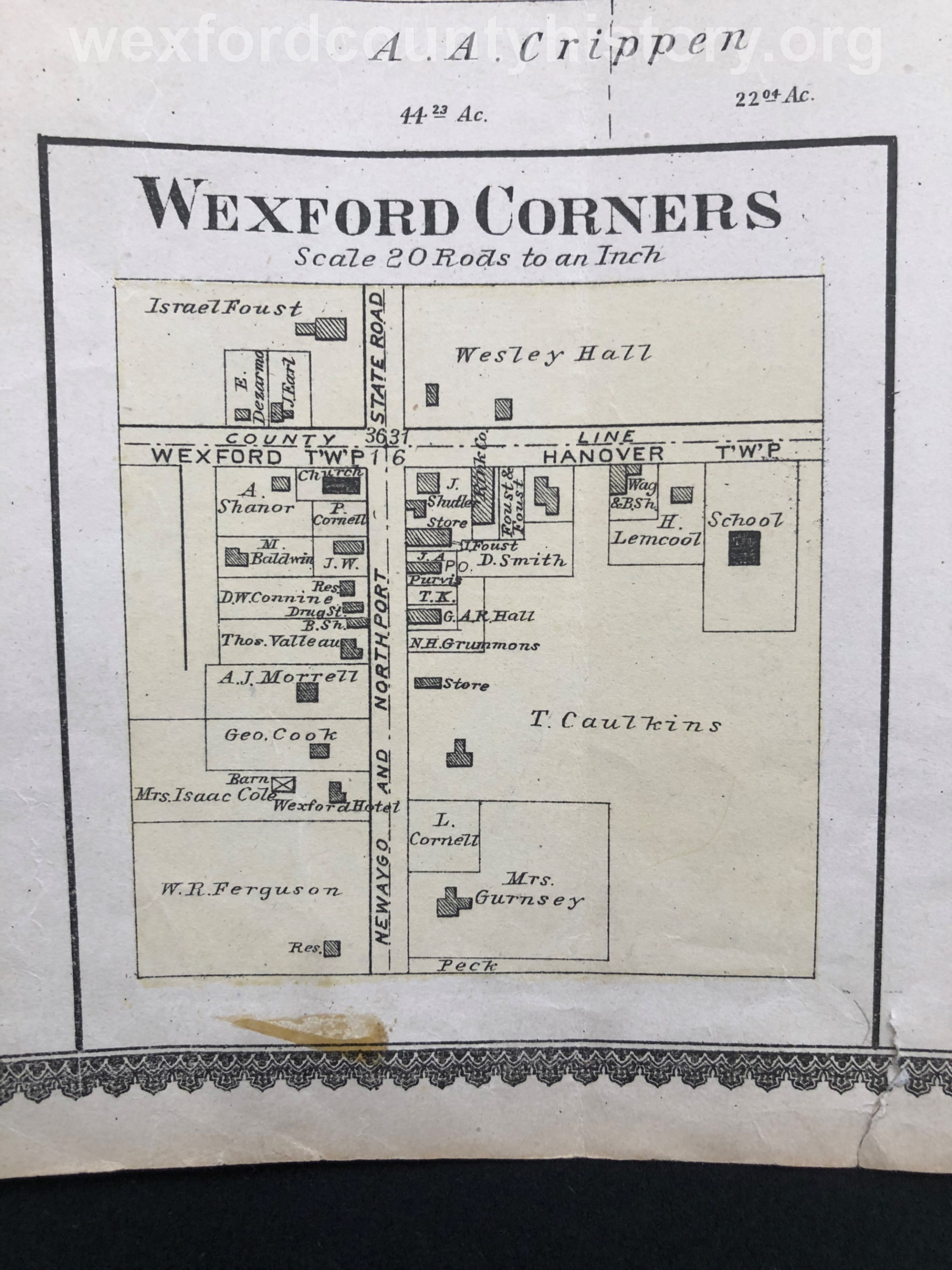 Map Of Wexford Corners