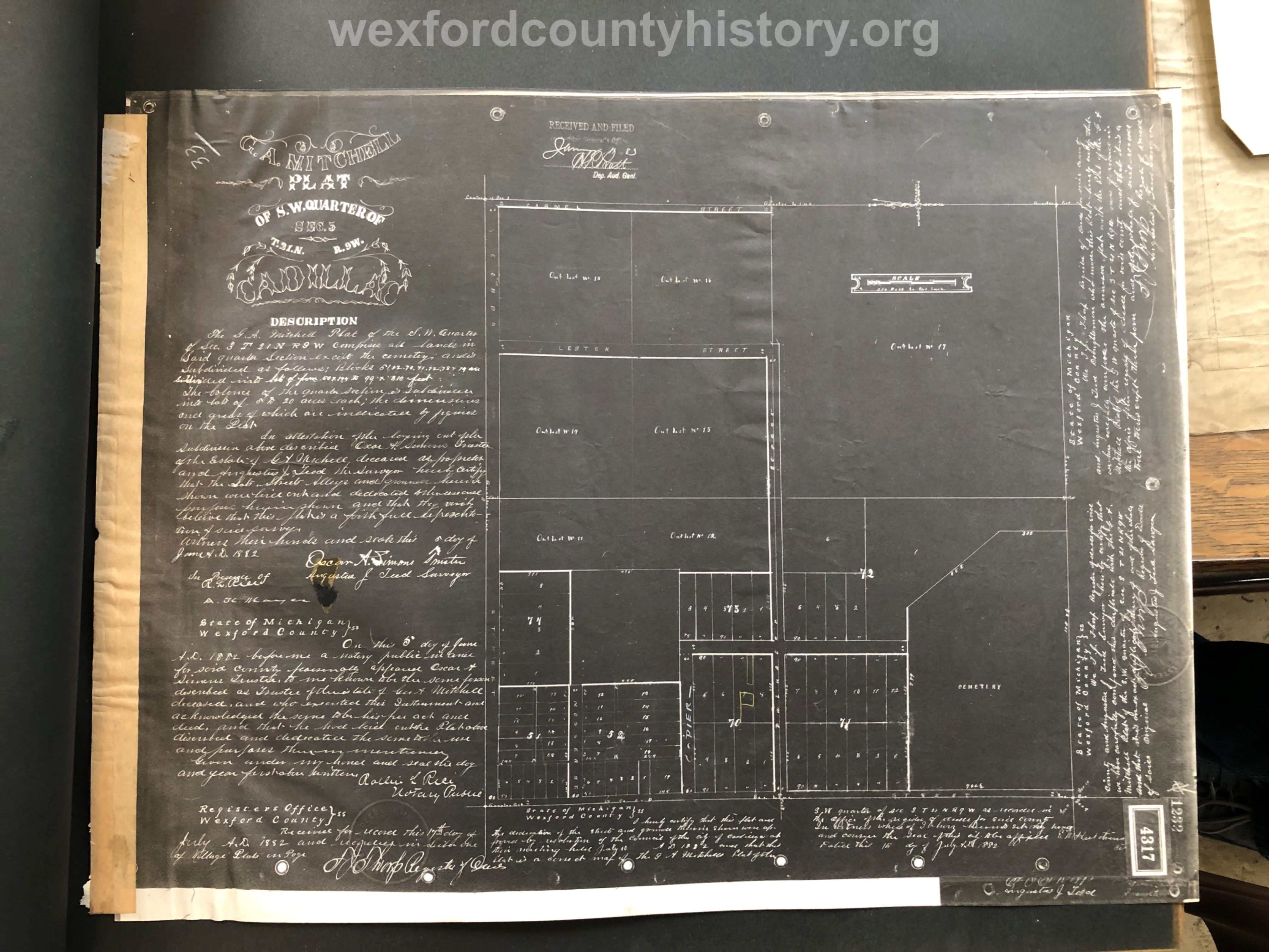 1883 - George A. Mitchell's Plat Of Southwest Quarter Of Section 5