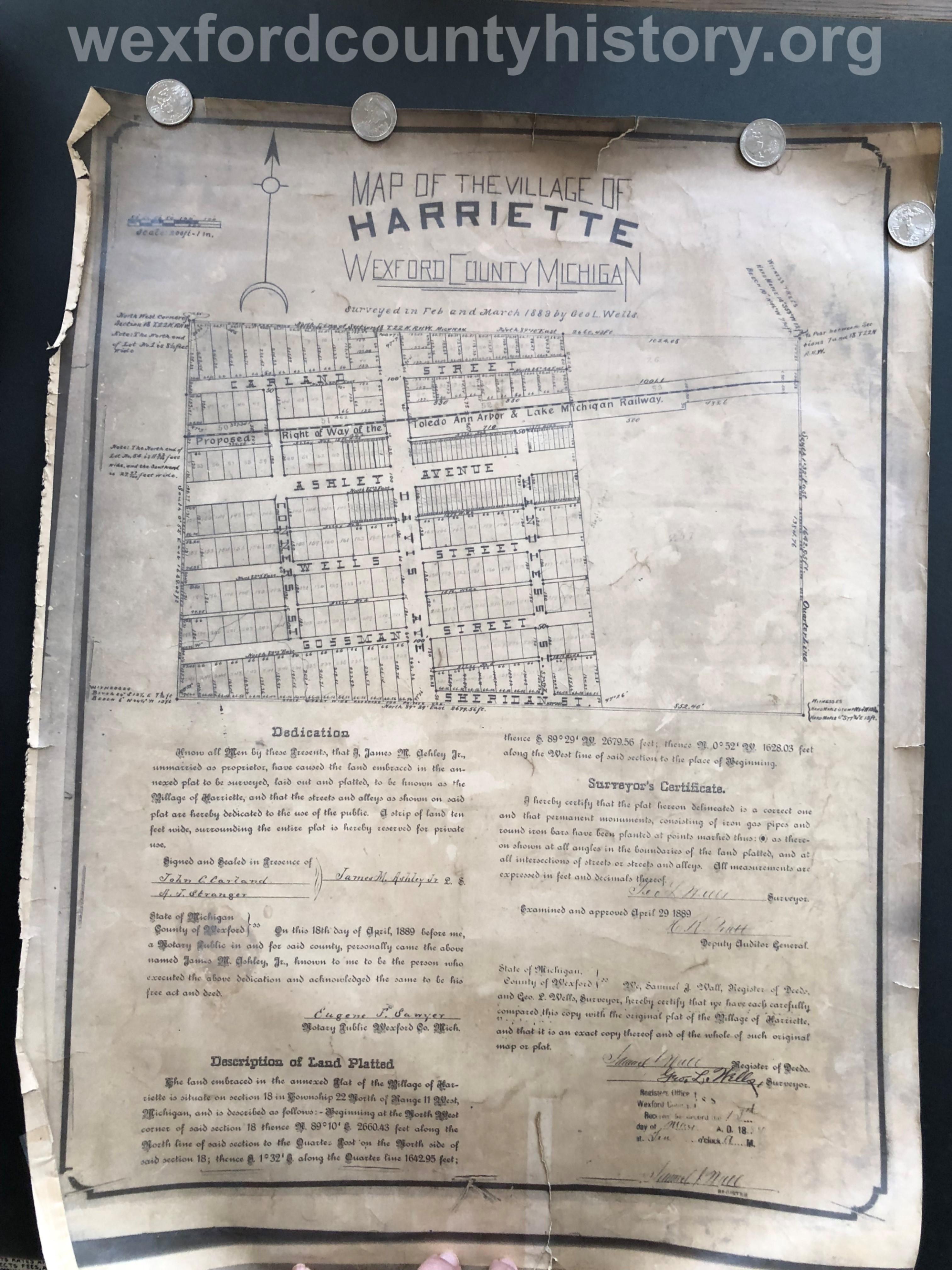 1889 - Village Of Hariette (Harrietta)