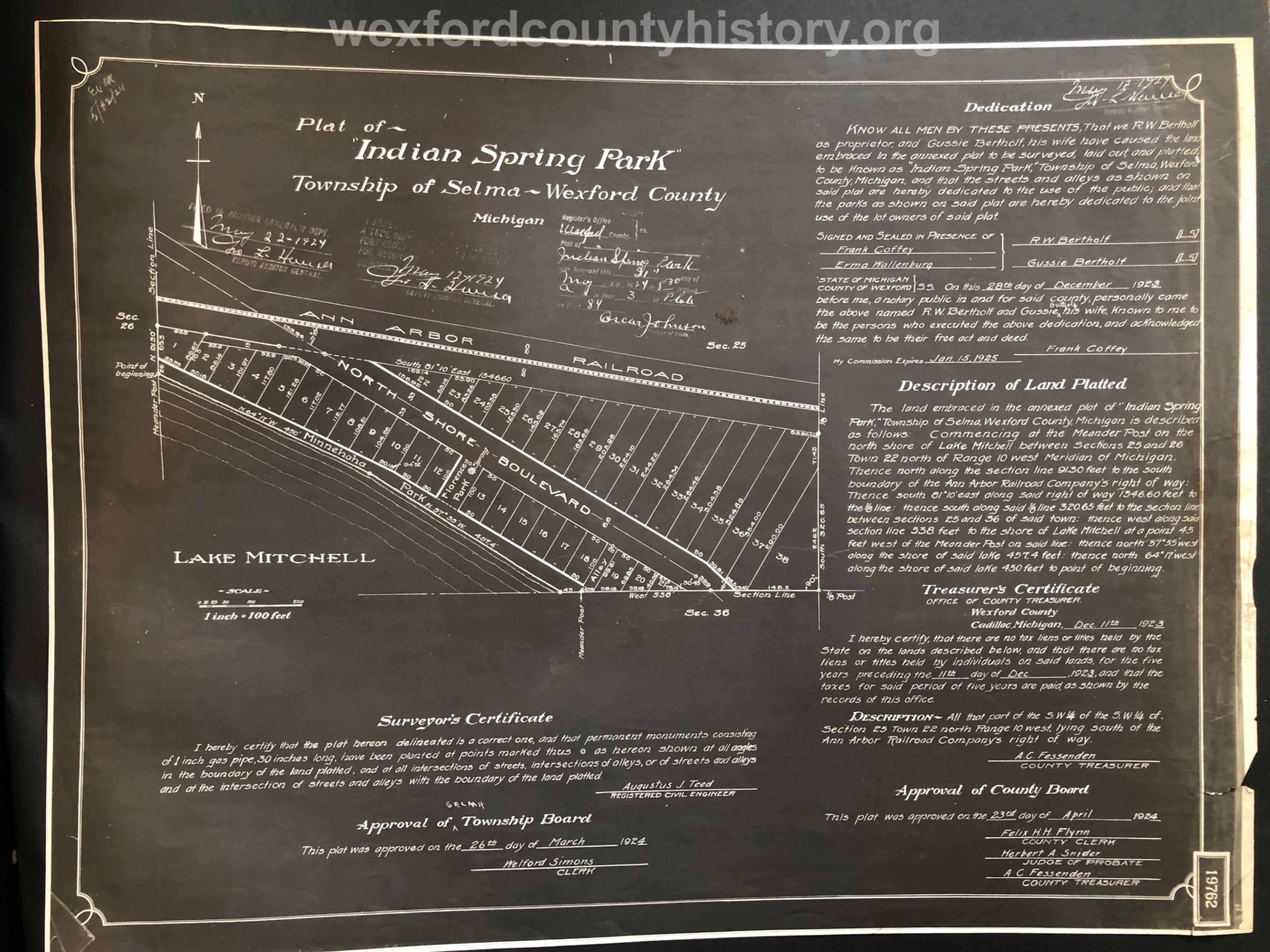 1924 - Indian Spring Park