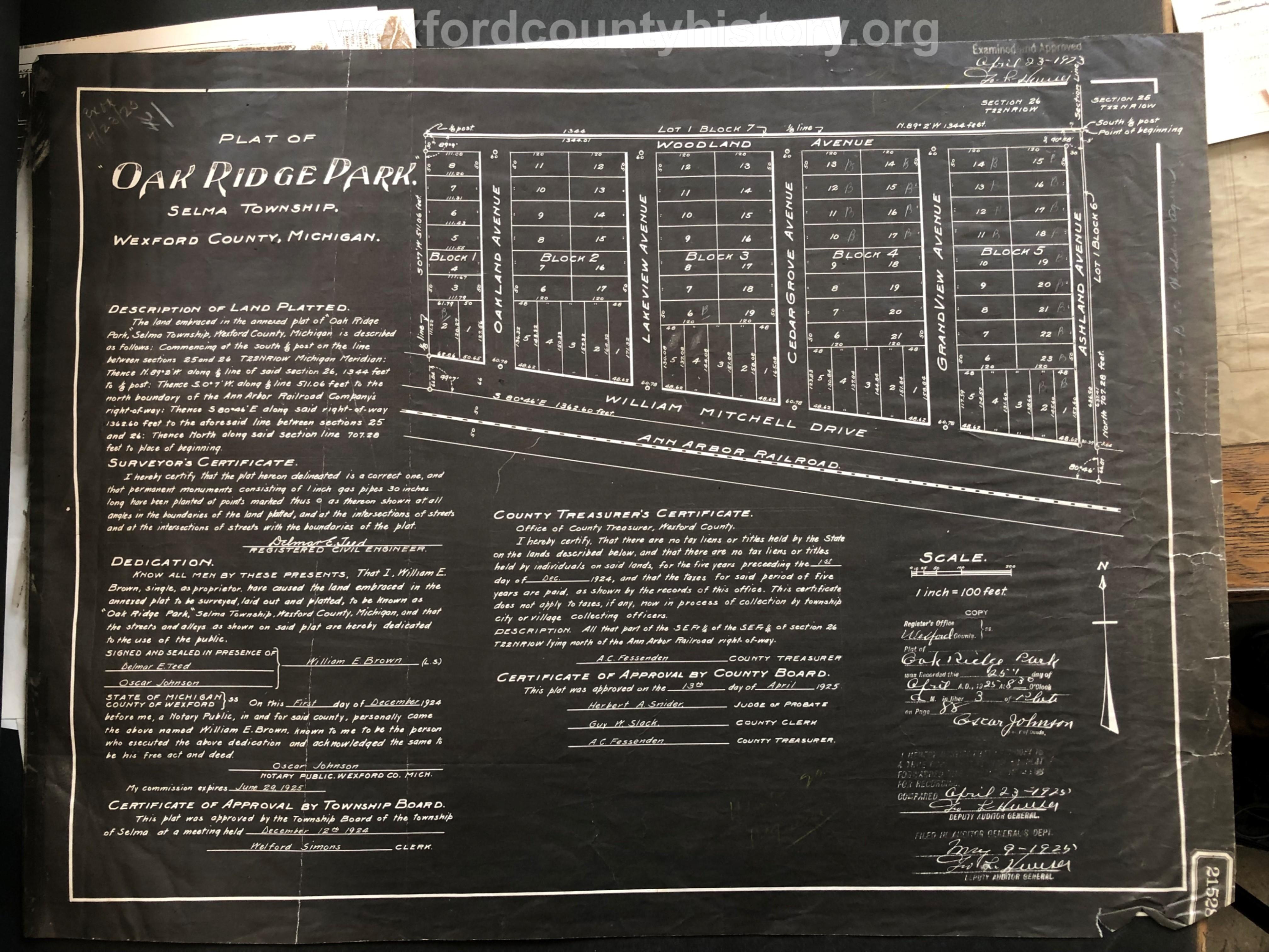 1925 - Oak Ridge Park