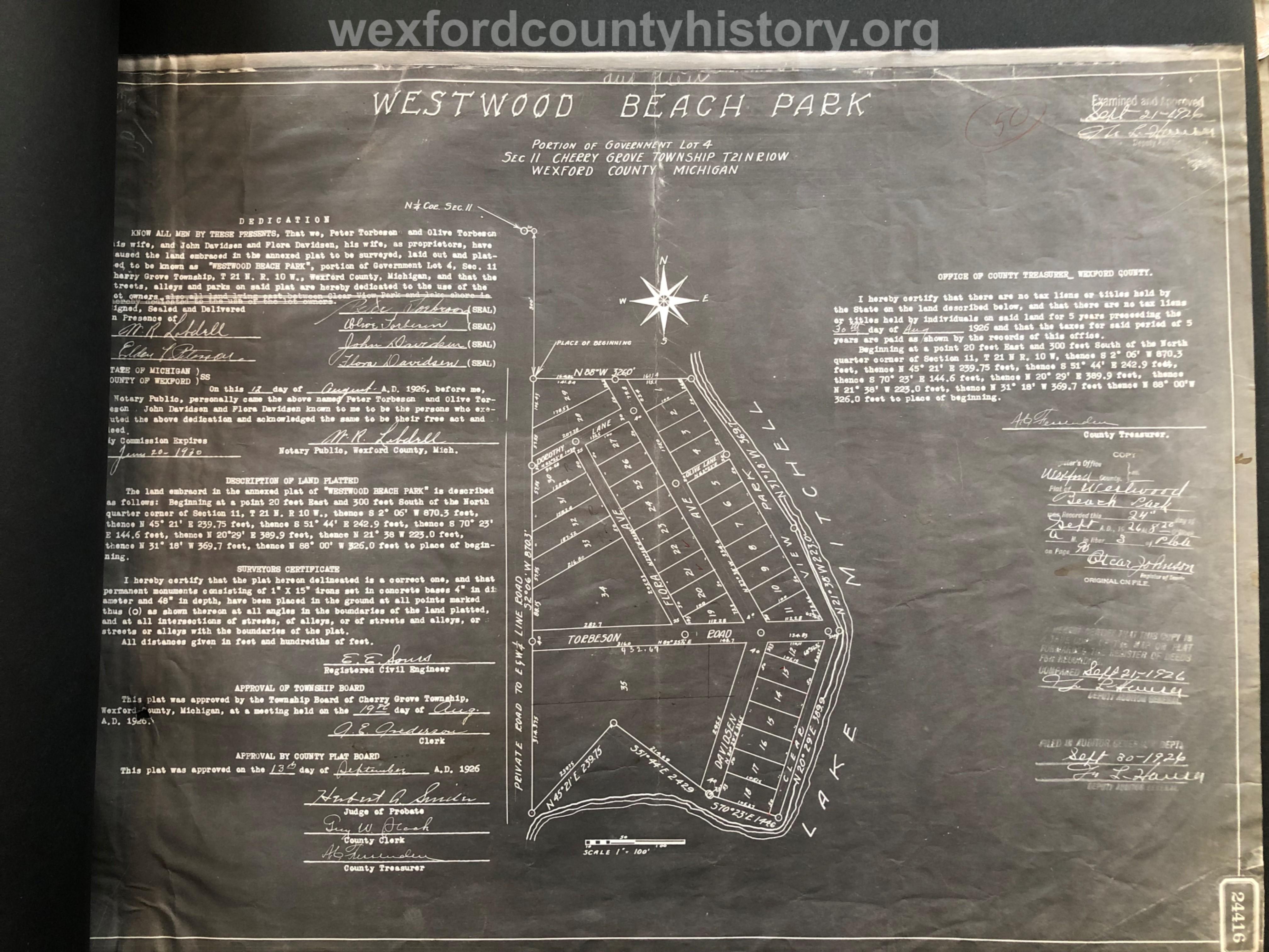 1926 - Westwood Beach Park