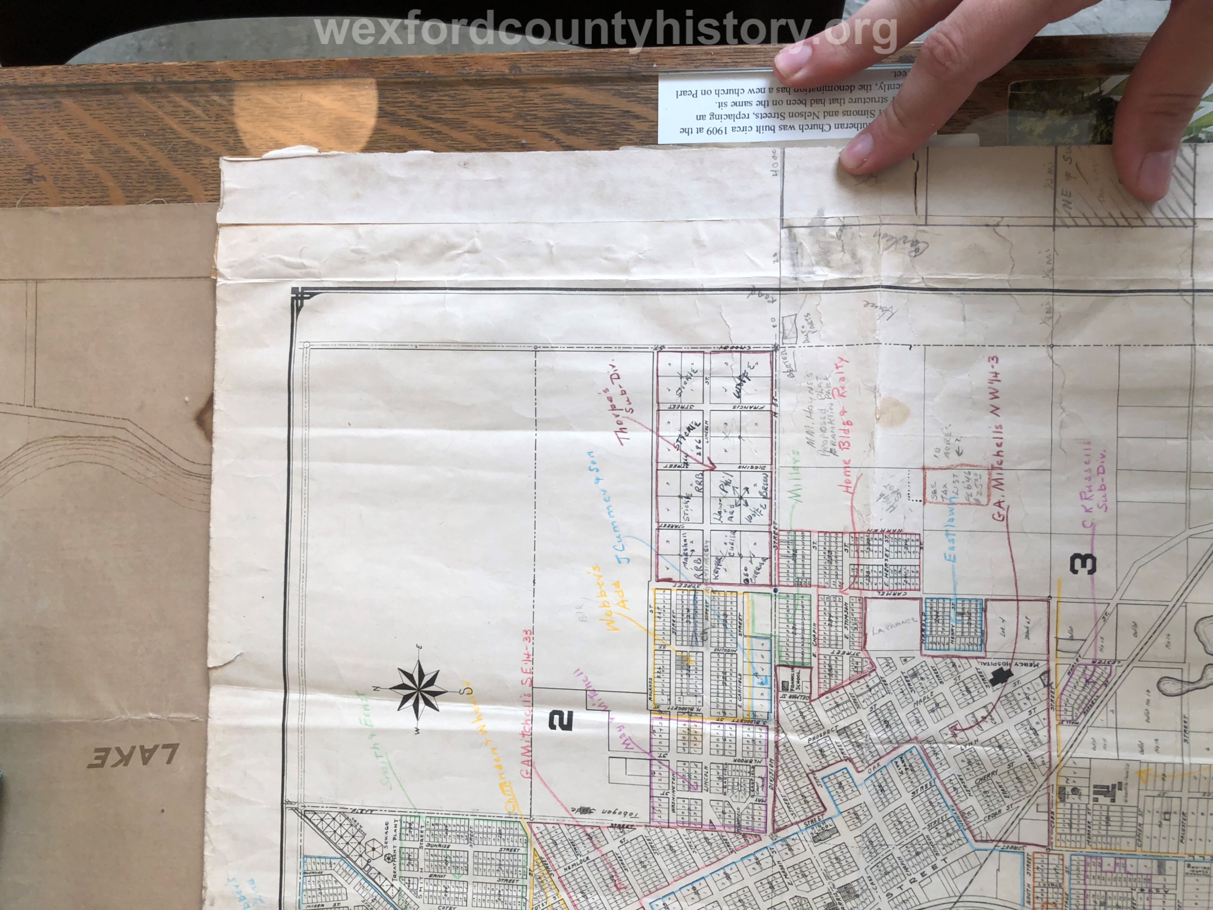 1942 - Revised Plat-Map Of The City Of Cadillac
