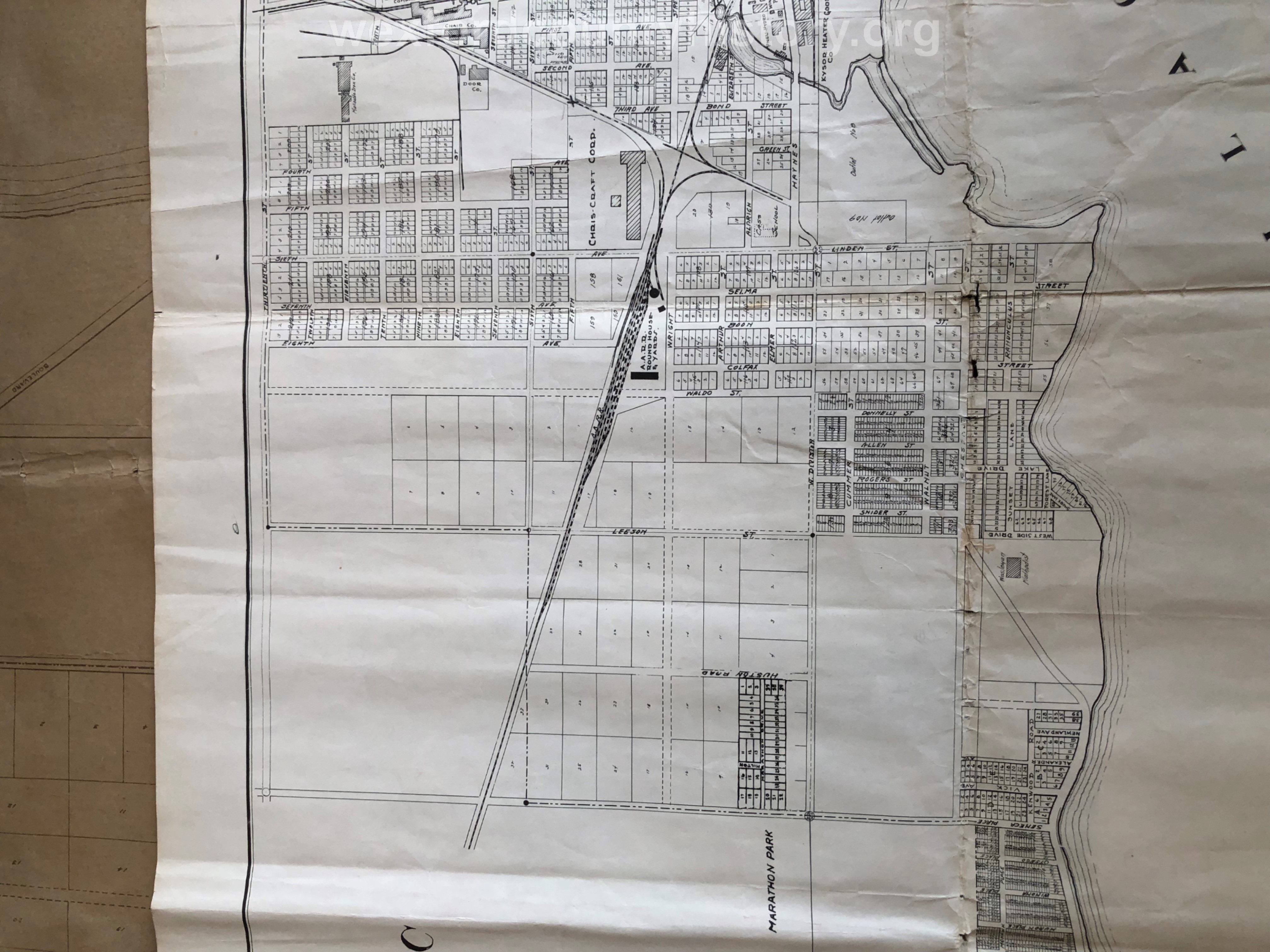 1952 - Revision Plat Map Of The City Of Cadillac