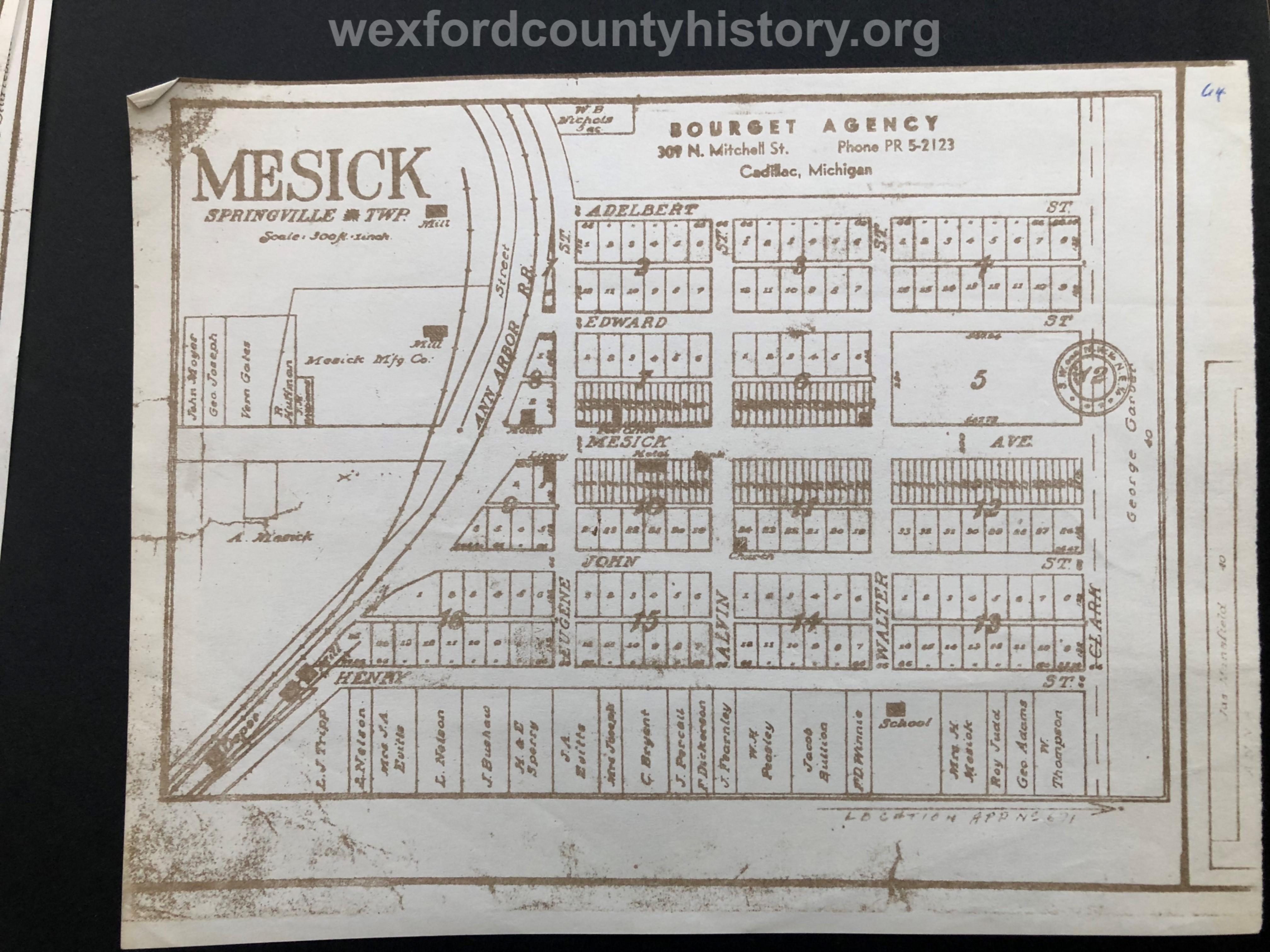 Mesick Plat Map