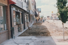 South Mitchell Street, 100 Block, West Side, Ripping Up Sidewalks.