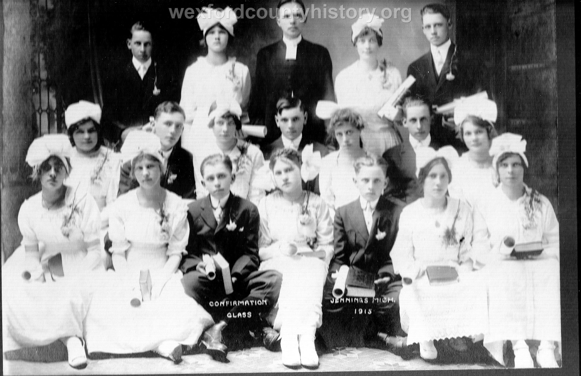 Jennings Confirmation Class, 1915