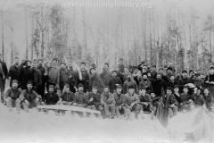 Mecosta County Lumbering Scene