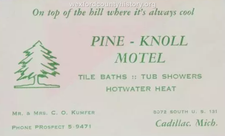 Cadillac-Object-Pine-Knoll-Motel-Business-Card