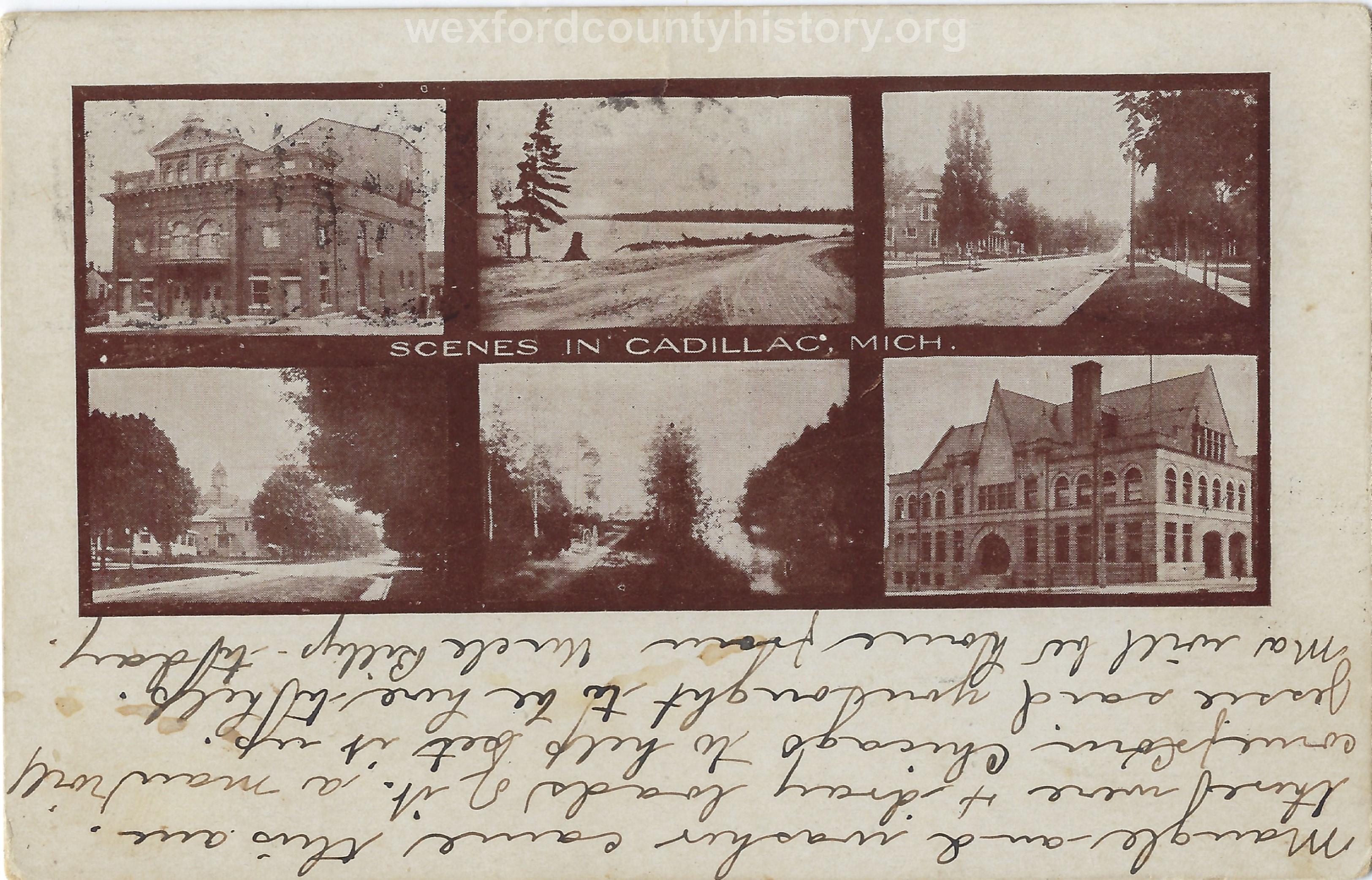 Cadillac-Postcard-Scenes-In-Cadillac