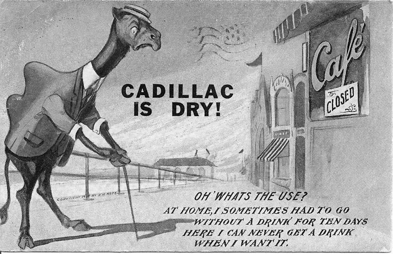 Comedic Cadillac Postcard
