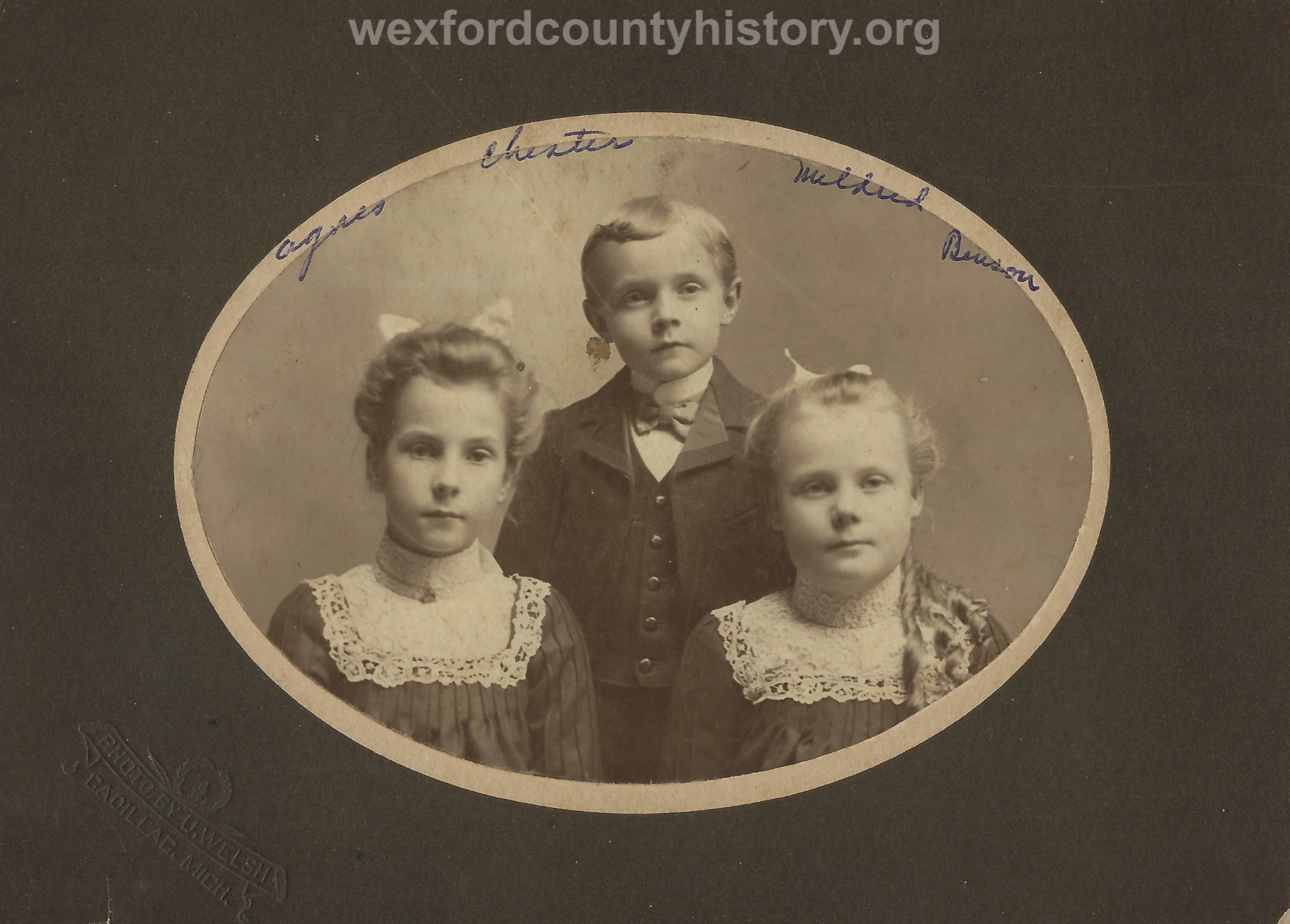 Agnes, Chester, and Mildred Benson