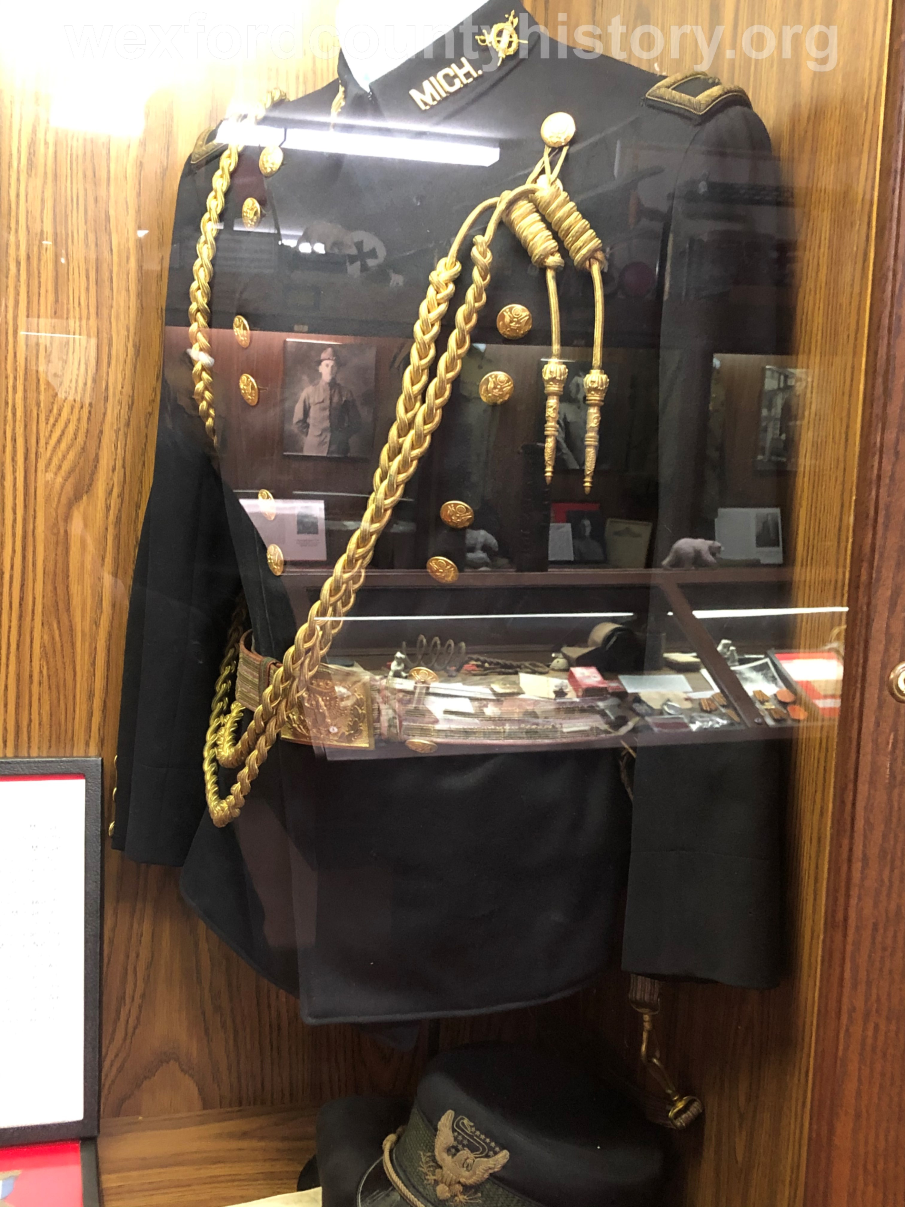 Fred Green's Display At The Michigan Military Heroes Museum
