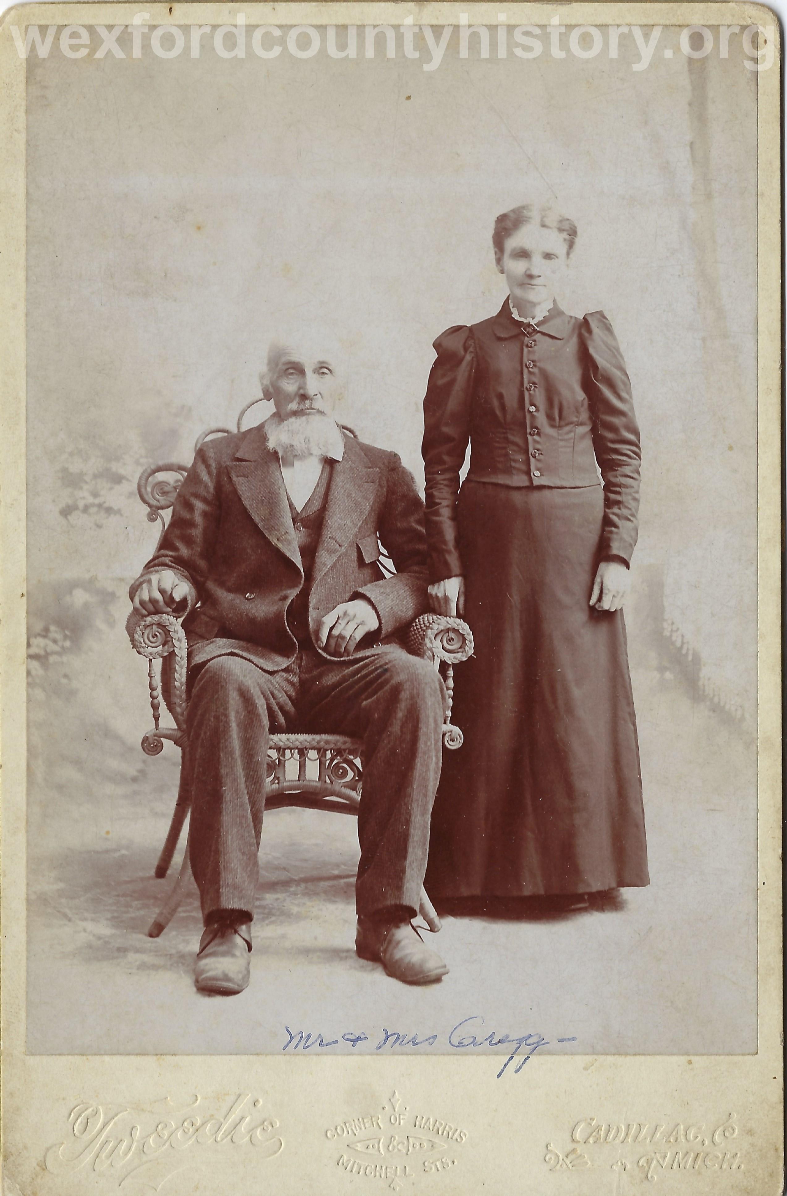 Hiram Gregg and Ingrid Prisell