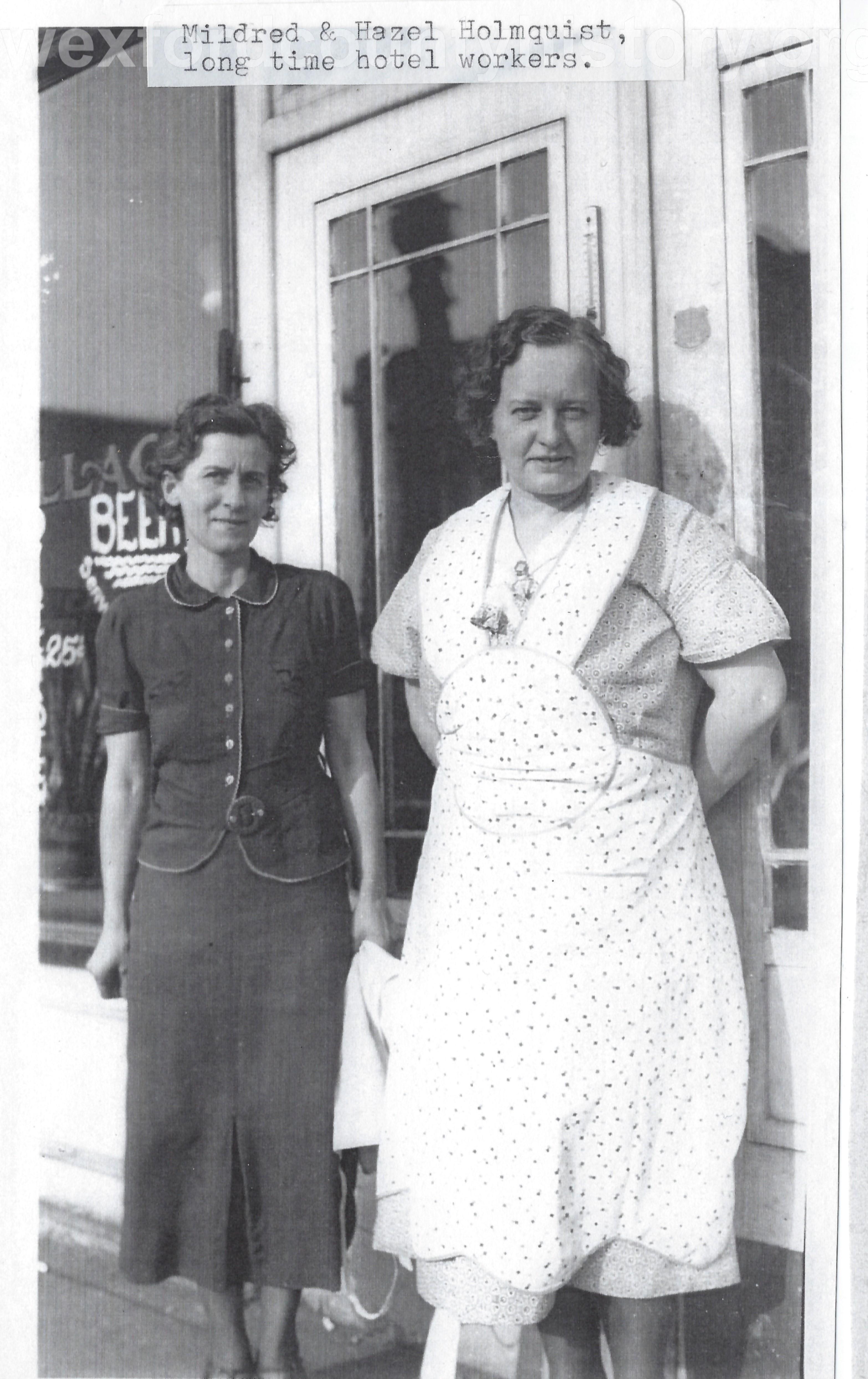 Mildred And Hazel Holmquist
