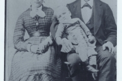 Hannah Lenora Boyce, Chauncey, and John Whitfield (baby)