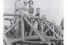Lillie and Bob Holly with Mildred, Donald and Richard Holmquist