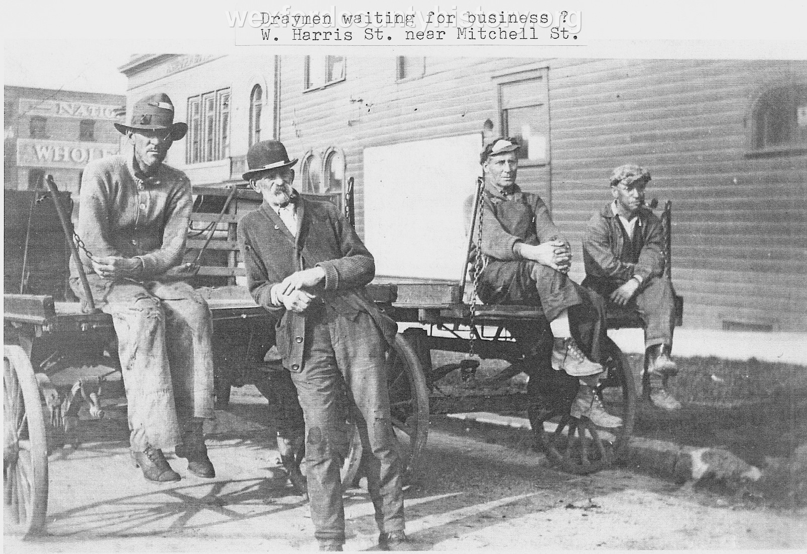 Draymen Awaiting Assignment Near The Corner Of West Harris Street and Mitchell Street