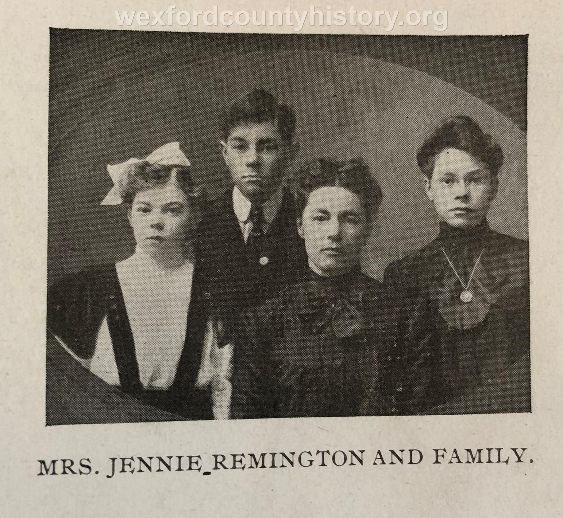 Mrs. Jennie Remington And Family