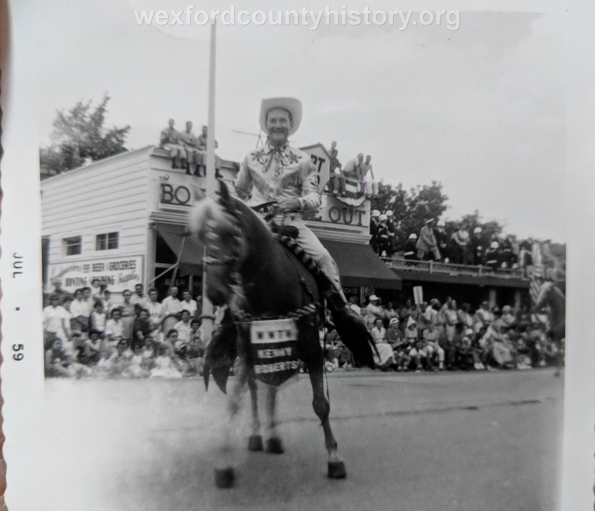Kenny Roberts At The 1959 Cherry Festival