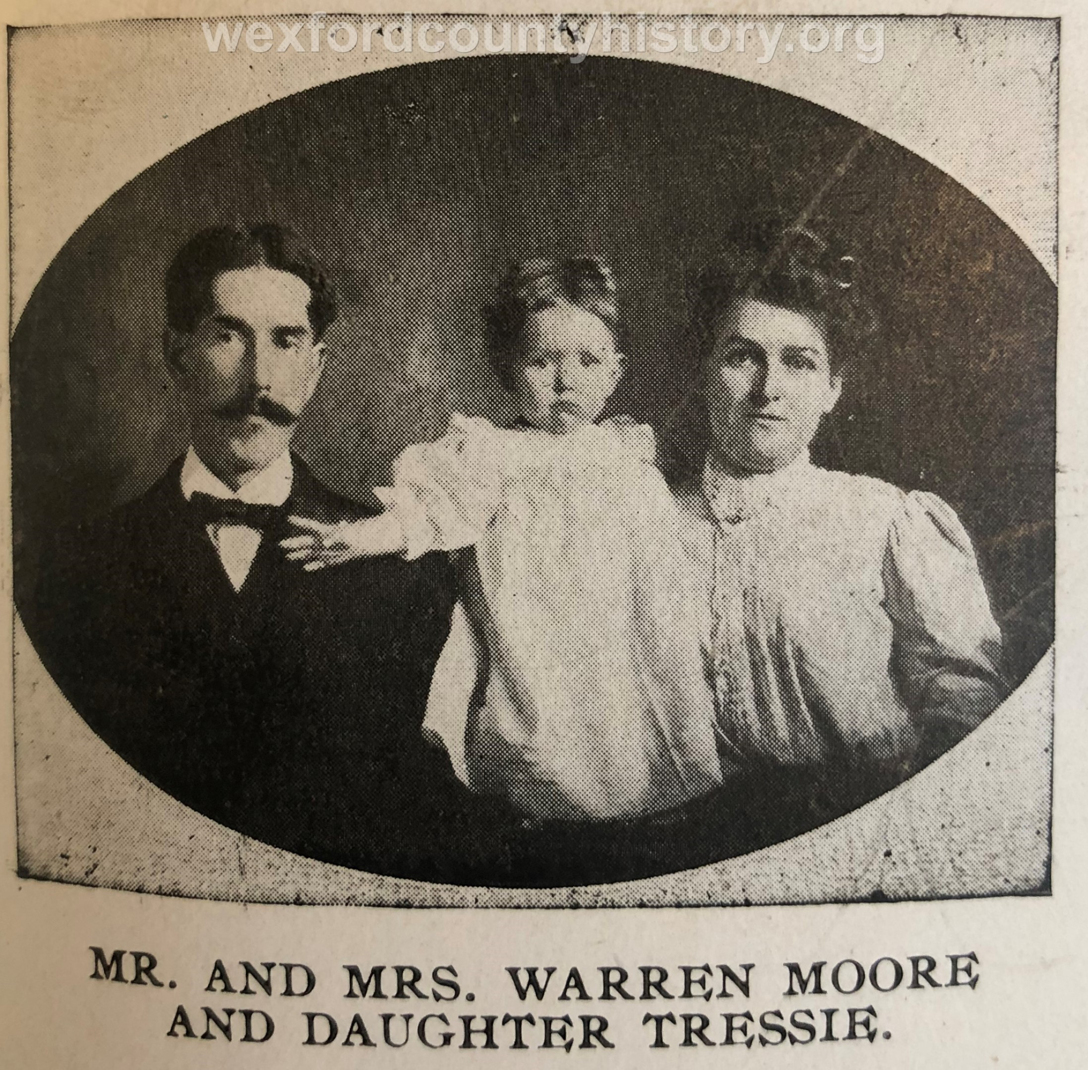 Mr. And Mrs. Warren Moore and Daughter Tressie